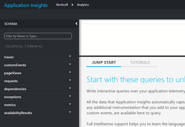 Analytics for Application Insights