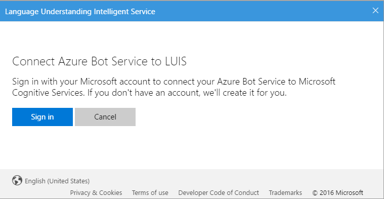 Connect Azure Bot Service to LUIS