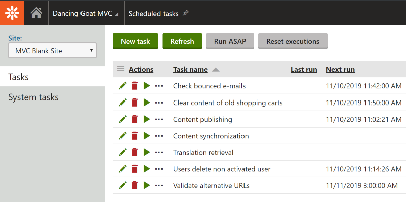 Kentico Site with correct Scheduled Tasks