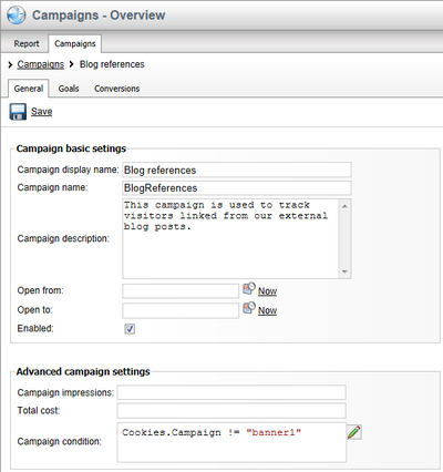 Kentico Campaigns Overview